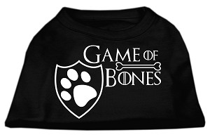 Game of Bones Screen Print Dog Shirt Black Lg (14)